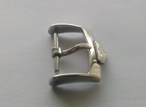 16mm S/S polished silver buckle for TGH watch strap