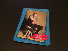 STING THE POLICE ROCK STAR CONCERT CARD '85 TRADING CARD USA OFFICIALLY LICENSED