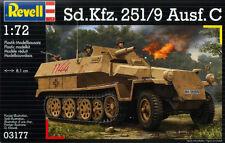 Revell 3177 WWII German Sd.Kfz.251/9 Ausf.C Halftrack 1/72 Scale Model Kit