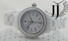 NEW MICHELE MINI JETWAY WHITE CERAMIC WOMEN WATCH MWW17E000002