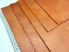 2.5 mm THICK COWHIDE Tooling Craft Leather Veg Tan Full Grain Saddle TAN Leather