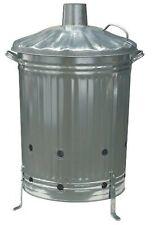 90L 72 x 46 cm Diameter Metal Composter/Incinerator - Silver