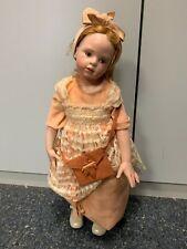 Hildegard Günzel Wax Over Porcelain Doll 58 Cm. Top Condition