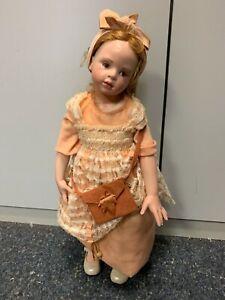Hildegard Günzel Wax Over Porcelain Doll 22 13/16in Top Condition