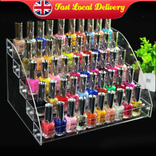 Acrylic Clear Makeup Nail Polish Bottles Retail Display Stand Holder 5 Tier Rack