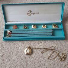 Burgana Ladies Necklace Watch Set Retro Vintage Collectable