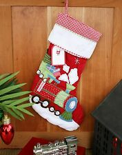 POTTERY BARN KIDS QUILTED TRAIN STOCKING – GET ON TRACK FOR SOME HOLIDAY FUN NWT