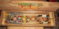 Ancien jeu de Croquet Armand - Début XXème - Complet 8 joueurs - Très bel état