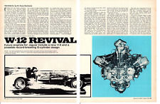 1968 JAGUAR W-12 ENGINE ~  ORIGINAL 4-PAGE ARTICLE / AD