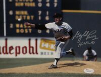 Gaylord Perry HOF Autographed 8x10 Giants Pitching Photo- JSA W Authenticated