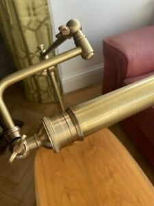 VINTAGE STYLE BRASS WORK READING CLAMP LAMP