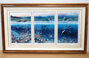 Robert Lyn Nelson In Celebration of the Newborn Lithograph Triptych 164/400 1987