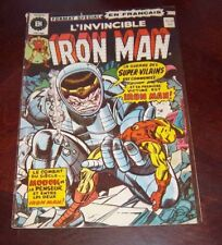 Editions Heritage Invincible Iron Man # 29 1976 French Edition Black White