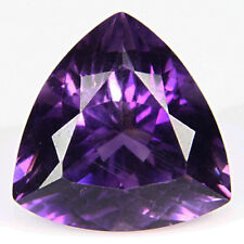 11.52Cts Genuine Natural Trillion Cut Purple Amethyst Brazil Gemstone VDO