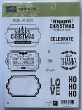 """Stampin' Up! """"Labels to Love"""" stamps - set of 11 - Brand New"""