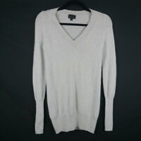 J Crew Collection Gray 100% Italian Cashmere V-Neck Sweater Size XS