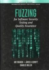 NEW Fuzzing for Software Security Testing and Quality Assurance by Ari Takanen H