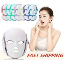 7 Color Lights LED Photon Therapy Mask Face Neck Mask Anti-aging Acne Treatment