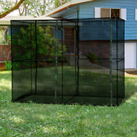Outsunny Heavy Duty Outdoor Walk-in Greenhouse With Roll-Up Zipper Doors