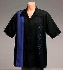 Mens Sz: MEDIUM Bowling Shirts Tall Retro Vintage Rockabilly Casual Blue