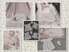 65+ Vintage Baby Knitting & Crochet Patterns 3 & 4 ply vintage designs + MORE