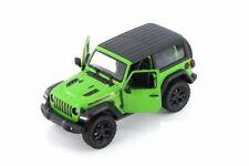 "5"" Kinsmart Jeep Wrangler Rubicon Hard Top Diecast Model Toy Car 1:34 Green"