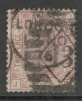 Queen Victoria - SG 139 - 2 1/2d Rosy Mauve - Plate 2 -  Letters J H- SCARCER