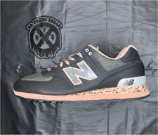 New Balance 574 Atmosphere Grey/Pink/Silver Running Shoes Size 10.5 D