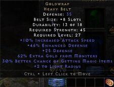 Goldwrap Belt | Goldträger Gürtel | Diablo 2 Resurrected D2R SC PC