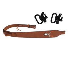 Tourbon Leather Rifle Sling/Swivels Set Strap Shooting Gun Hunting Shooting Kits