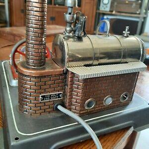 Vintage Wilesco Model Live Steam Engine D16....110volt