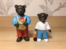 LITTLE BEAR BROWN x2 PVC FIGURES * DANIELE BOUR * BAYARD PRESS * RARE
