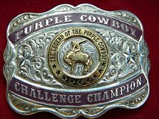 Gist Silversmith  THE LEGEND OF THE PURPLE COWBOY CHALLENGE CHAMPION silver
