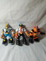 Lot of 3 Loose Mattel Rescue Heroes  Action Figures