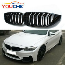 Gloss Black Front Hood Kidney Grille Grills Grill for BMW F32 F33 F82 M4 2014-18