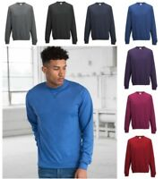 AWDis Men's Heather Slim fit, Lightweight, SWEATSHIRT in Colour Choices