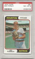 SET BREAK - 1974 TOPPS #91 KEN FORSCH, PSA 8 NM-MT,  HOUSTON ASTROS, L@@K