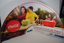 "RARE 2013 LARGE 44"" CINCO DE MAYO WALMART COCA COLA POP SODA ADVERTISING SIGN"