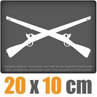 gekreuzte Gewehre 20x 10 cm JDM Decal Sticker Auto Car Weiß Scheibenaufkleber
