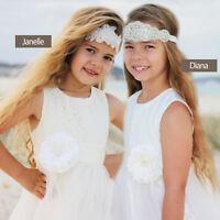 Wedding Bridal Crystal Flower Girl Baby Christening Rhinestone headband Tiara