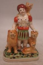 Staffordshire Pottery Figure - Isaac A. Van Amburgh the Lion Tamer - Menagerie