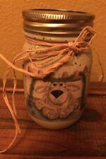 Primitive Christmas Moose Painted Mason Jar With Lid