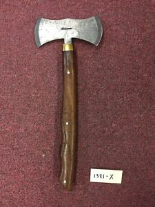 """Pioneer Custom Hand Made Axe with Brass Guard 16"""" PT-1381"""