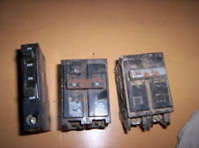 Lot of 3 Breakers: 15 Amp Type Oot, 30 Amp Type Qp, 30 Amp Type C 2 Pole