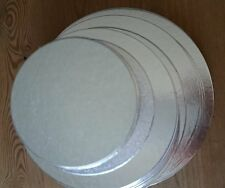 Round cake cards, thin cake boards for tiered/stacked cakes, packs of 10, 3 4 5