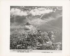 1940s WWII Navy bombers blast Japanese at Yap City, Palau Photo