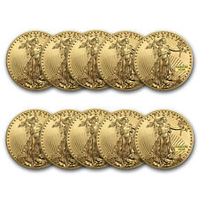 Bank Wire Payment. 1 oz Gold American Eagle BU (Random Year) - Lot of 10
