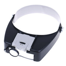 Headband magnifier led light head lamp magnifying glass with led lights LTA