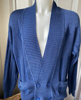 Mens Mid Blue Fiorenza  Cardigan with pockets Size 2XL
