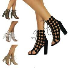 Zapatos de tacón con cordones de tacón de mujer